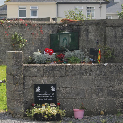 Memorial and Marian Shrine at Tuam Mother and baby home