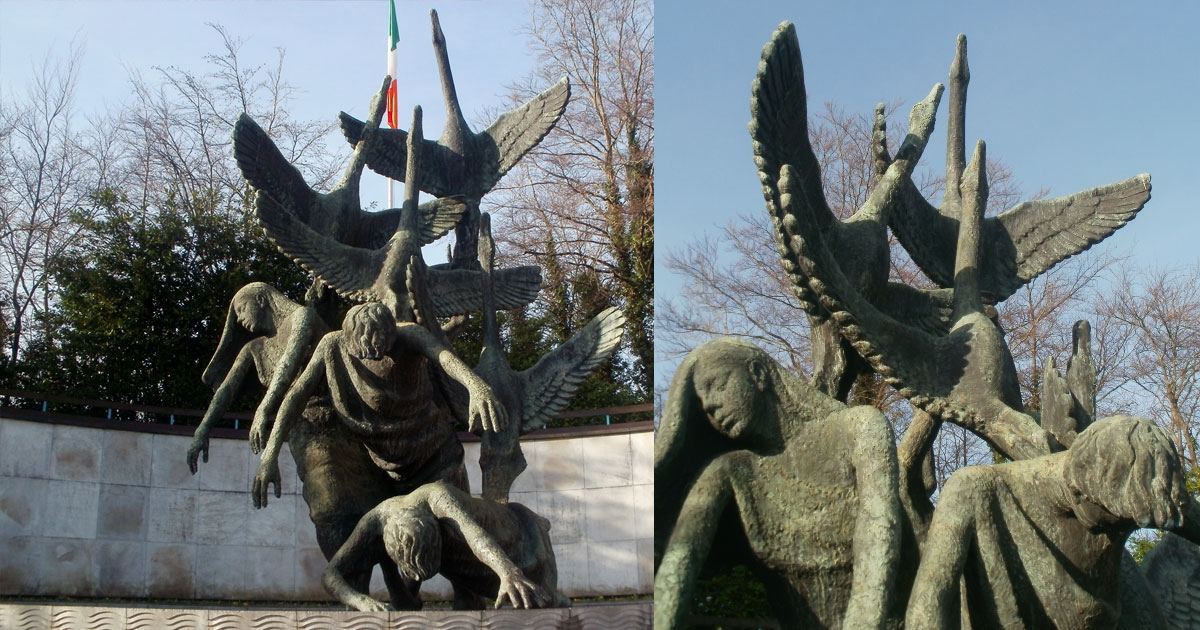Garden-of-Rememberence Statue of the Children of Lir