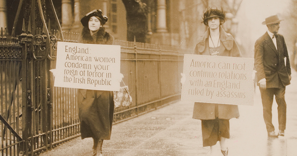 American women protest England's reign of terror in Ireland