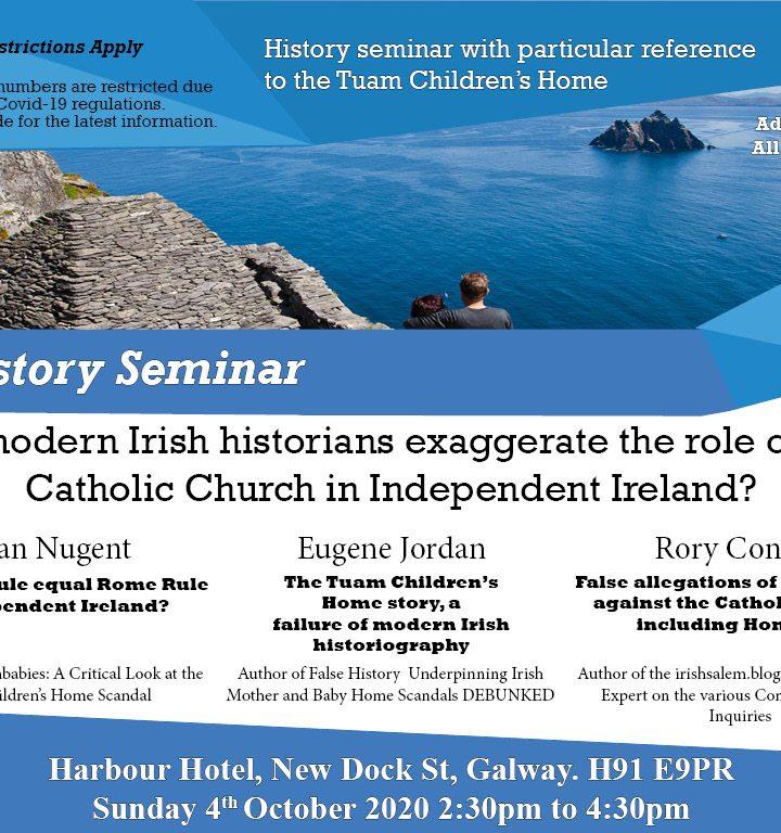 History Seminar 4th October 2020