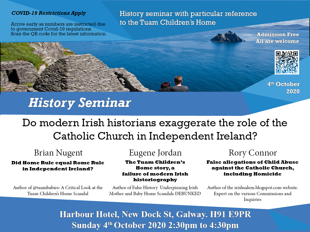 Irish Mother and Baby Home Scandal History Conference
