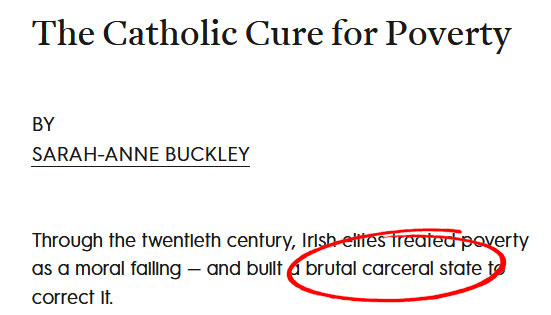 sarah anne buckley - untrue allegations about catholics