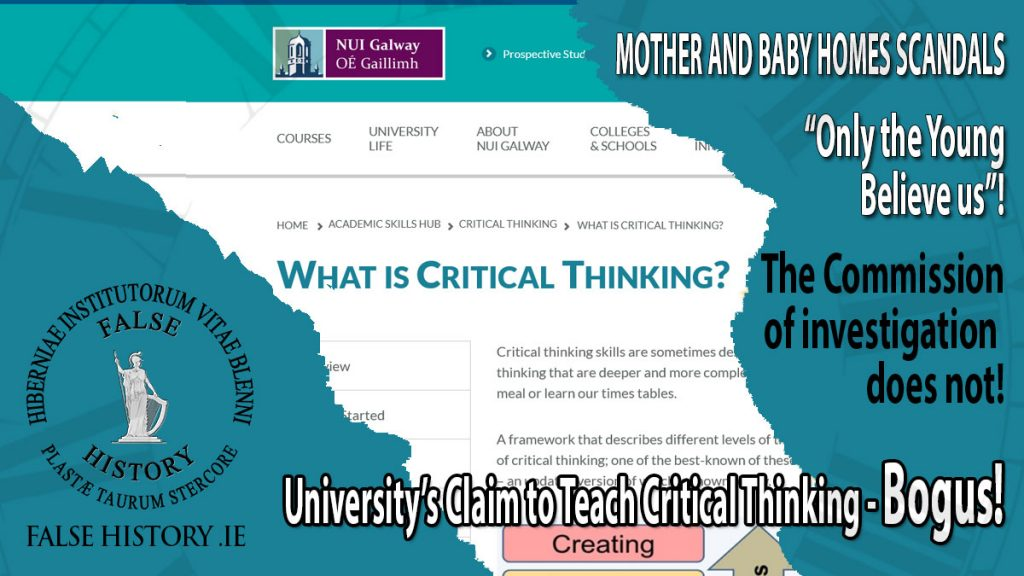 Critical Thinking Skills Absent at Galway University