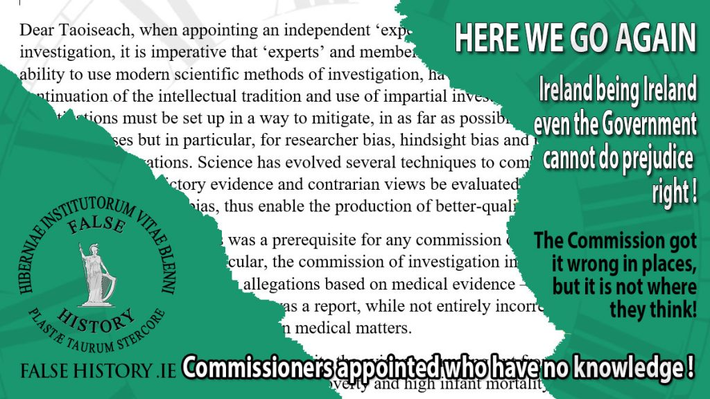 Letter to An Taoiseach the merry go round of investigations